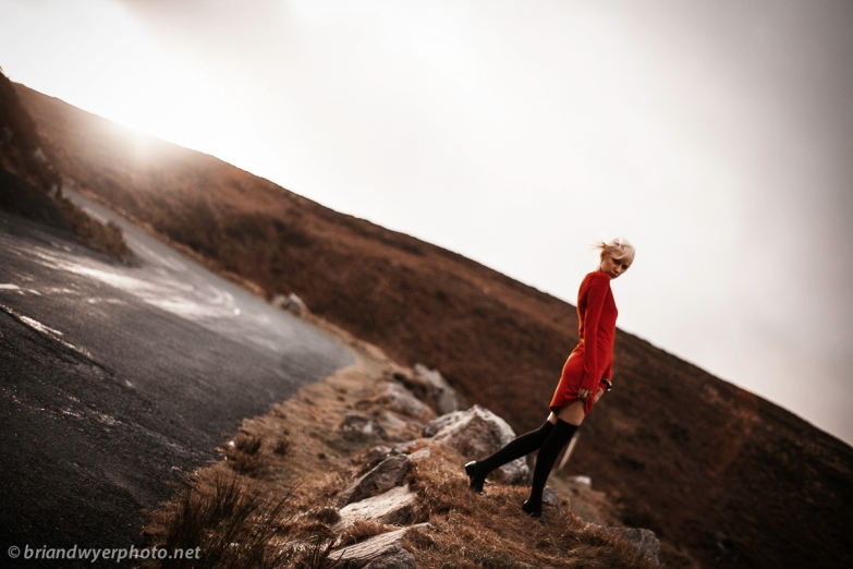 anna in the wicklow mountians