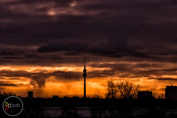 Dortmund fiery sunset